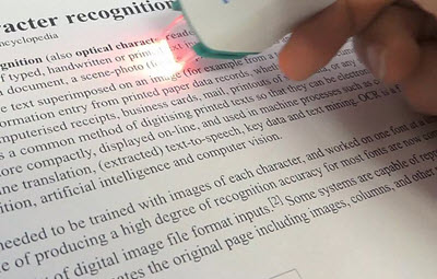 Optical braille recognition